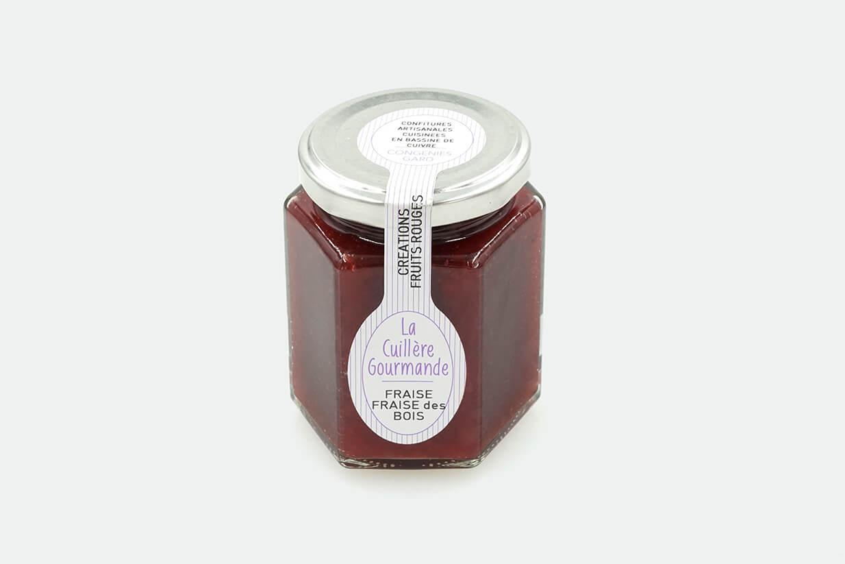 Confiture fraise, fraise des bois 225